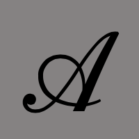 stylized A