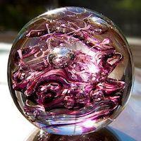 purple glass sphere