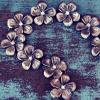silver flowers