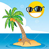 tropical-island-cartoon-illustration-coconut-tree-blue-ocean-cloud-smiling-sun-31651373
