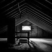 shadowed attic